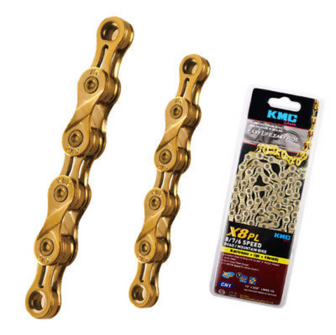KMC X8PL 8 Speed X8 Chain Gold Coated MTB Road Bicycle Chain 116 Links
