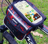 Top Tube Frame Pouch mobile Hp Phone Holder Saddle + Rain Cover