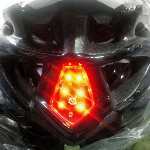 Lightweight MTB Cycling Protective Helmet + Integrated Safety Warning Led