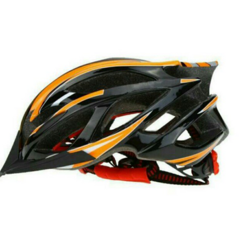 Lightweight MTB Cycling Protective Orange Helmet