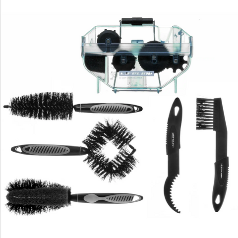 Bicycle Essential Bike and Chain Cleaning Brush Kit