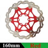 160mm & 180mm Floating Red/Black Disk MTB Brake Rotors (2 Pieces)