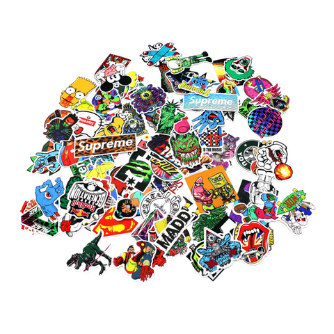 100 pieces DIY Colour Random Sticker Bomb Decals