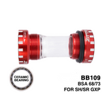 Ceramic Threaded Bottom Bracket BB 109 BSA68/73mm Bicycle 24mm/22mm GXP