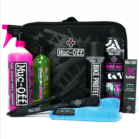 Muc-Off Deluxe Premium 1 Set Kit + Valet Carrier Organizer Bike Wash Cleaning kit