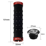 Black/Red Anodized Skeleton MTB Lock Grips