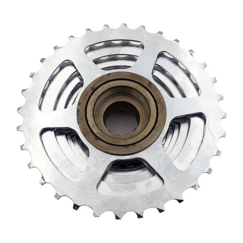 Silver 9 Speed MTB 13T - 32T Bicycle Freewheel Cassette