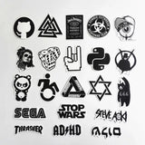 60 pieces DIY Black and White Sticker Bomb Decal