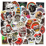 50 Pieces Punk Skeleton DIY Colour Random Sticker Bomb Decals