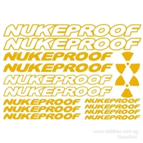 Nukeproof Nuclear Power Racing Frame Bicycle Stickers Die-cut Decal
