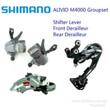Shimano Alivio 9 Speed 3 Speed Left/Right Shifters + Front/Rear Derailleur Groupset M4000 9s/27s
