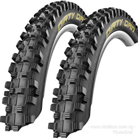 Schwalbe 26 X 2.35 Dirty Dan Super Gravity Folding Tyres ( Tubeless Ready )