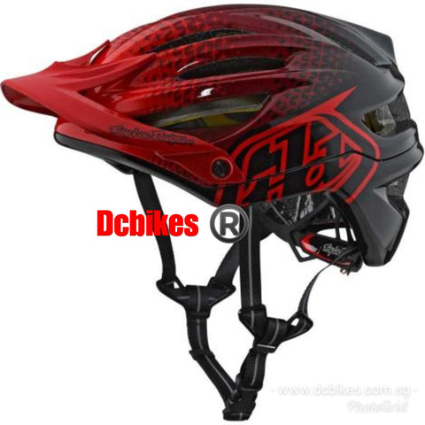 Genuine Troy Lee Designs Starburst A2 Mips Red MTB Protective Helmet