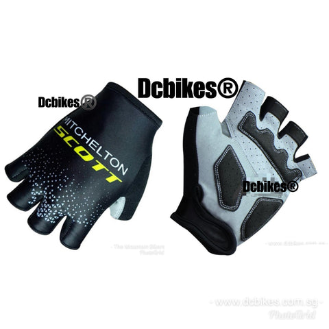 Team Scott X Michelton Pro Cycling Half Finger Protective Gloves