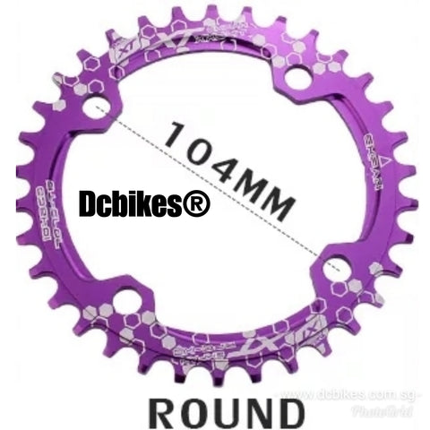 104bcd Round Narrow Wide Chain Ring Single Speed Anodized