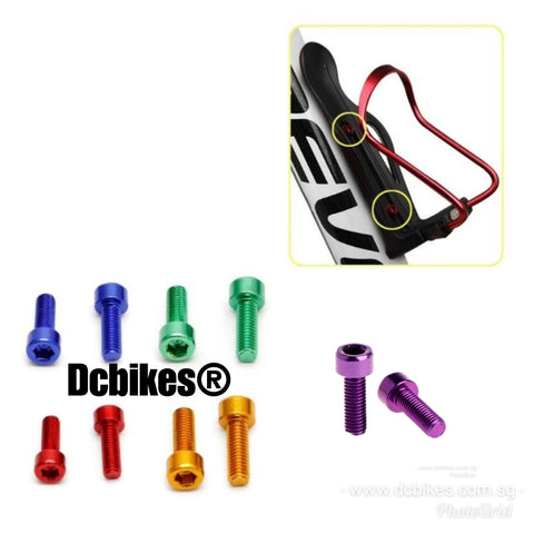 MTB Road Bike Waterbottle Cage Anodized Bolts