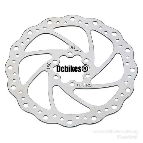 Tektro 160mm Wave Cross Drill Disk Brake Rotors