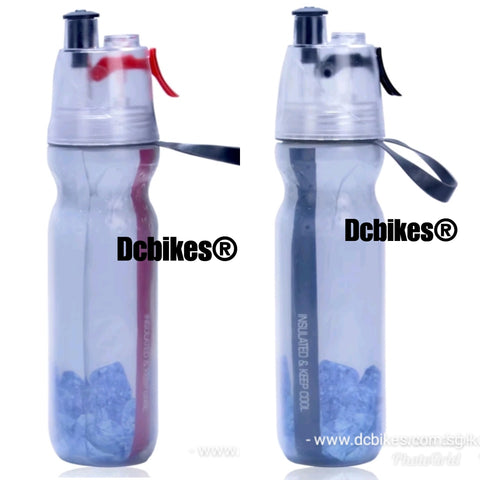 Insulated Sports Water Bottle Spray Mist Squeeze Bottle 500ml