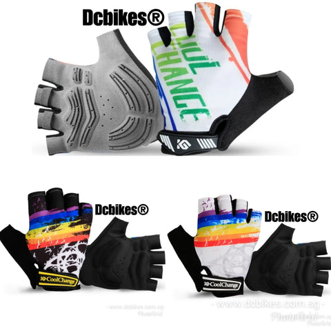 Rainbow Half Finger Sports Protective Gloves