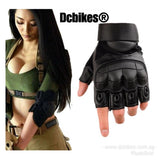 Black Tactical Military Army Half Finger Protective Gloves