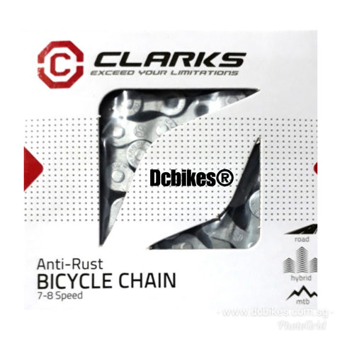 Clarks Anti Rust 7-8 Speed Bicycle Chain