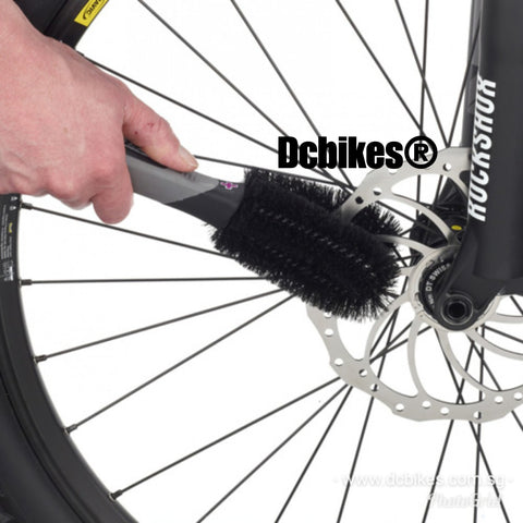 Muc Off Bicycle Super 2 Way Prong Disk & Wheels Brush