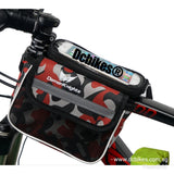 Camouflage Top Tube Frame Handphone Hp Holder Pouch + Rain Cover