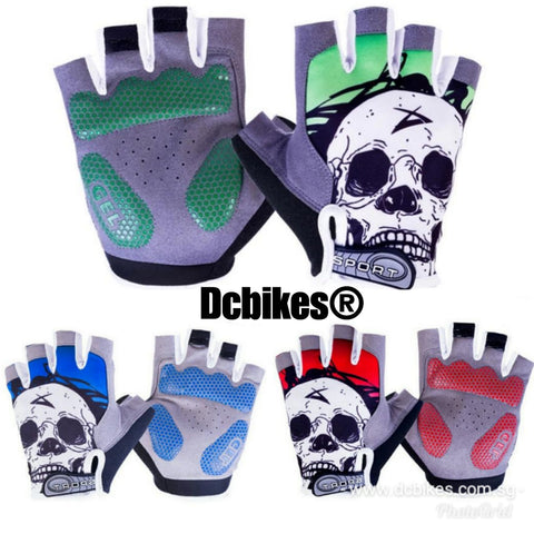 Skeleton Protective Half Finger Gloves