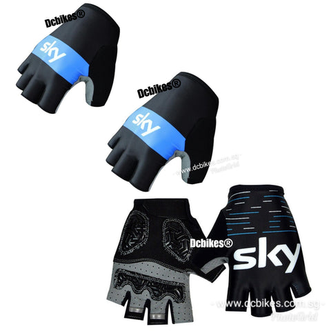 Team Sky Bicycle Half Finger Gloves