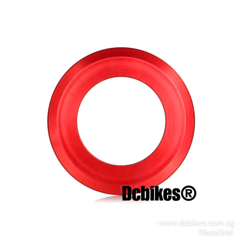 "Dcbikes® Crown Race Reducer Red Anodized Convert 1.5"" to 1.1/8"