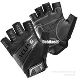 Black Cycling Half Finger Protective Gloves