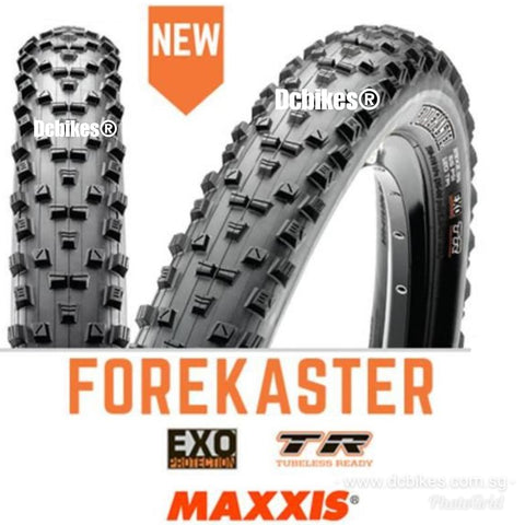 Maxxis 27.5/29 X 2.35 Forekaster EXO Tubeless Ready MTB Folding Tyres (2 Tires)