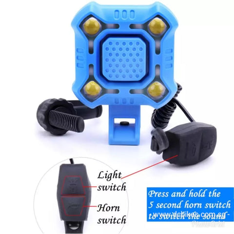 2 in 1 Rechargeable Electric Horn + Flashing Led Lights