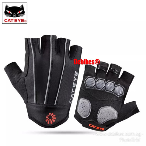 Cateye Classic Reflective Cycling Half Finger Gel Gloves