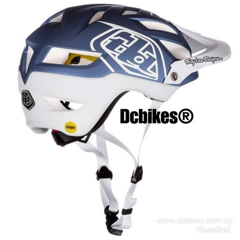 Genuine Troy Lee Designs A1 MIPS Blue/White Racing MTB Helmet