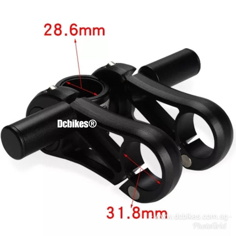 28.6mm - 31.8mm Adjustable Double 90mm MTB Bicycle Handlebar Stem