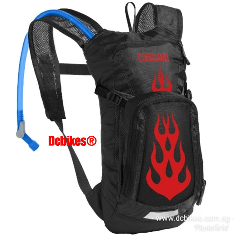 Camelbak 1.5 Liters Black Flame Youth Junior MTB Hydration Back Pack