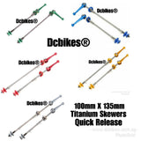 Titanium Quick Release MTB Road Bicycle QR Skewers