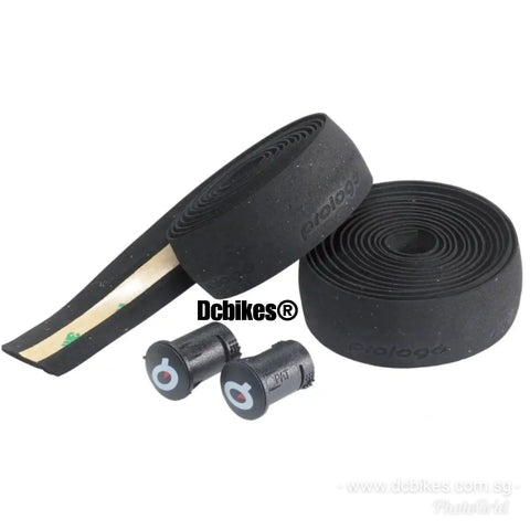 Prologo Black Embossed Fixie Road Bike Handlebar Tape + End Caps