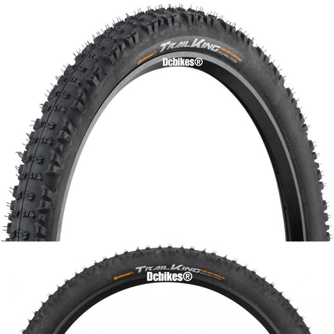 Continental 27.5 X 2.2 Trail King 650B PureGrip Tubeless Ready Folding Tyres (2 Tires)