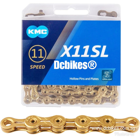 KMC X11 Gold SL Super Light 11 Speed Chain + Missing Link