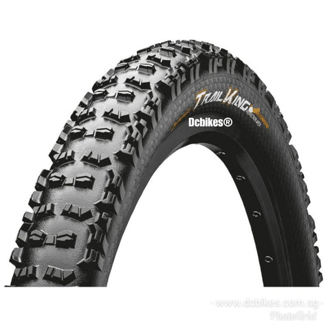 "Continental 27.5 X 2.4"" Trail King Pure Grip Tubeless Ready 650B MTB Folding Tyres (2 Tires)"