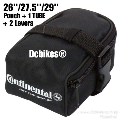26/27.5/29 Continental Saddle Pouch Bag + MTB Tube & Tyre Levers