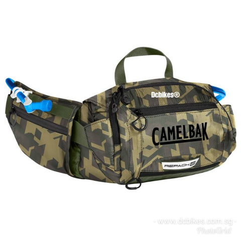 CamelBak MTB Low Rider Hydration Hiking Repack Green Camouflage Waistpack Pouch Bag 4 Litres