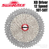 SunRace 12 Speed 50T Sram XD Driver MTB Silver Cassette