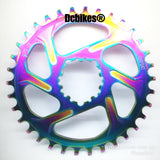 Oil Slick 32T/34T DUB GXP ROUND Boost 148 MTB Narrow Wide Direct Mount Chain Ring