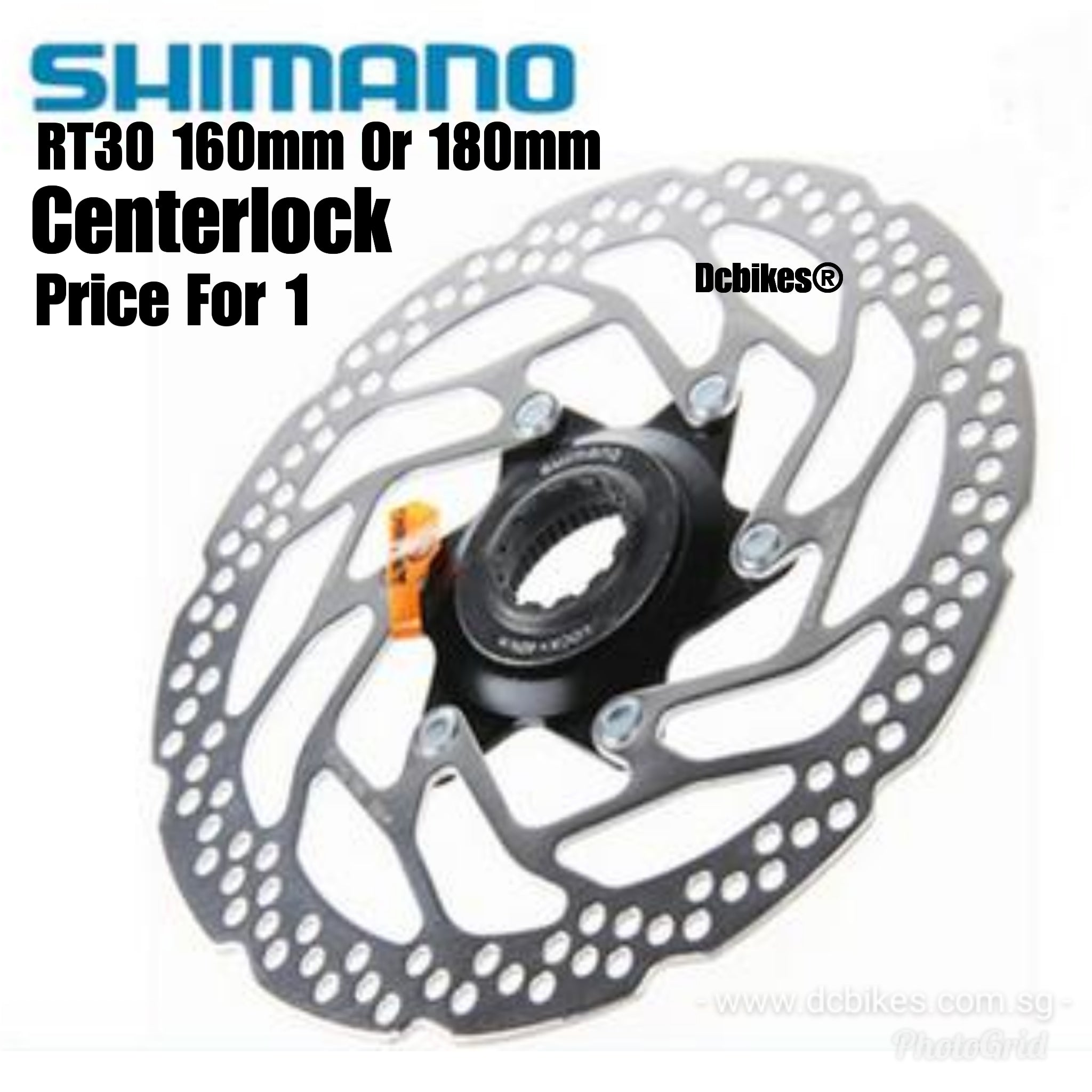Shimano Mountain Bike SM-RT30 Center Lock Brake Rotor Disc 160mm//180mm Bicycle