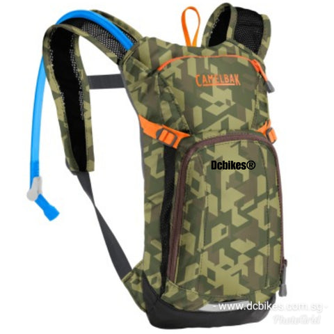 Camelbak 1.5 Liters Green Camouflage Youth Junior MTB Hydration Back Pack