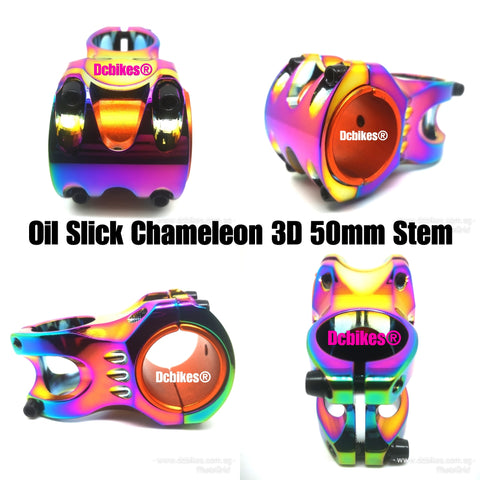 Dcbikes® Jet Fuel Oil Slick 50mm MTB Stem For 31.8mm/35mm Clamp