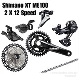 Shimano XT M8100 2 X 12 Speed 10-45T Groupset